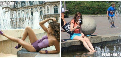 Девушки в фонтанах...
