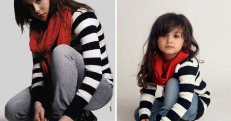 девочка воссоздает фото знаменитостей