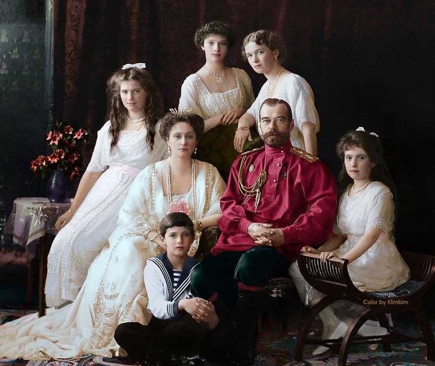 Николай II с семьёй, 1914 год