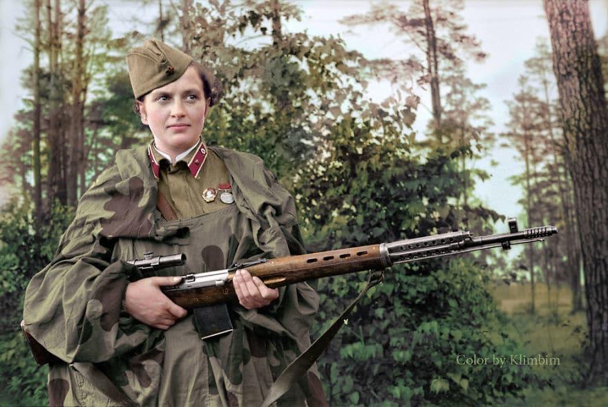 Снайпер-рекордсменка Великой отечественной войны Людмила Павличенко