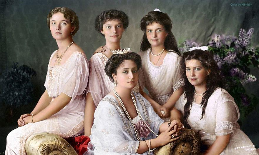 Александра Романова с дочерьми, 1914 год