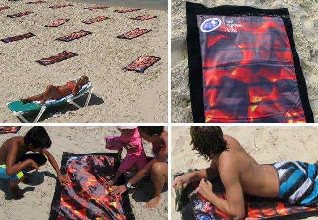 12. Израильская социальная реклама, напоминающая, что долгое нахождение на солнце может вызвать рак