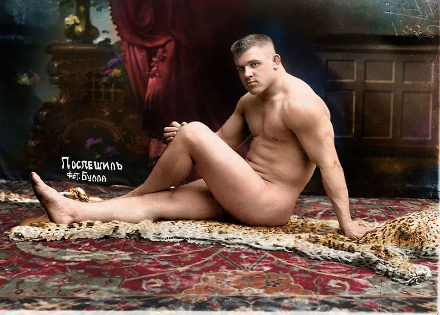 Открытка с портретом борца Карла Поспешила, 1912