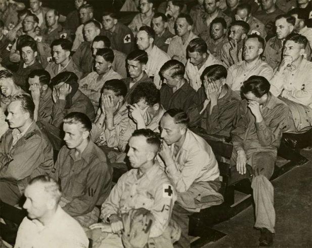 #11 Реакция немецких солдат на кадры из концлагерей, 1945 год