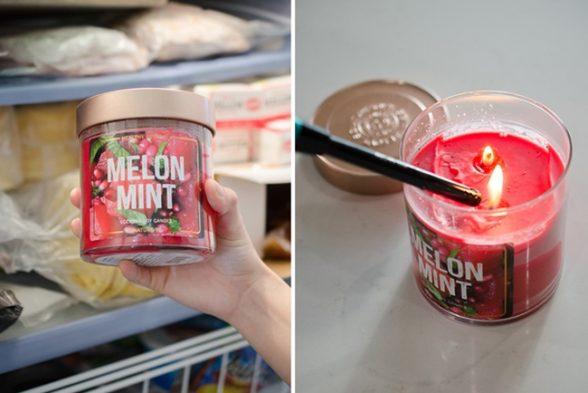 11. Чтобы свеча быстро не прогорела, поместите её на день в холодильник.