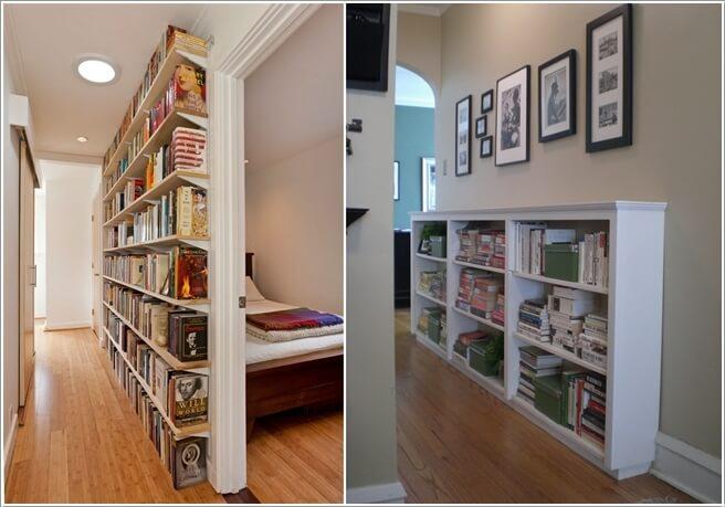 1. Установите полки или поместите книжный шкаф для создания мини-домашней библиотеки.
