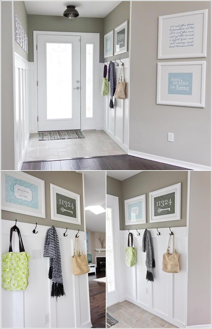 6. Увеличьте место для хранения при помощи нескольких крючков.