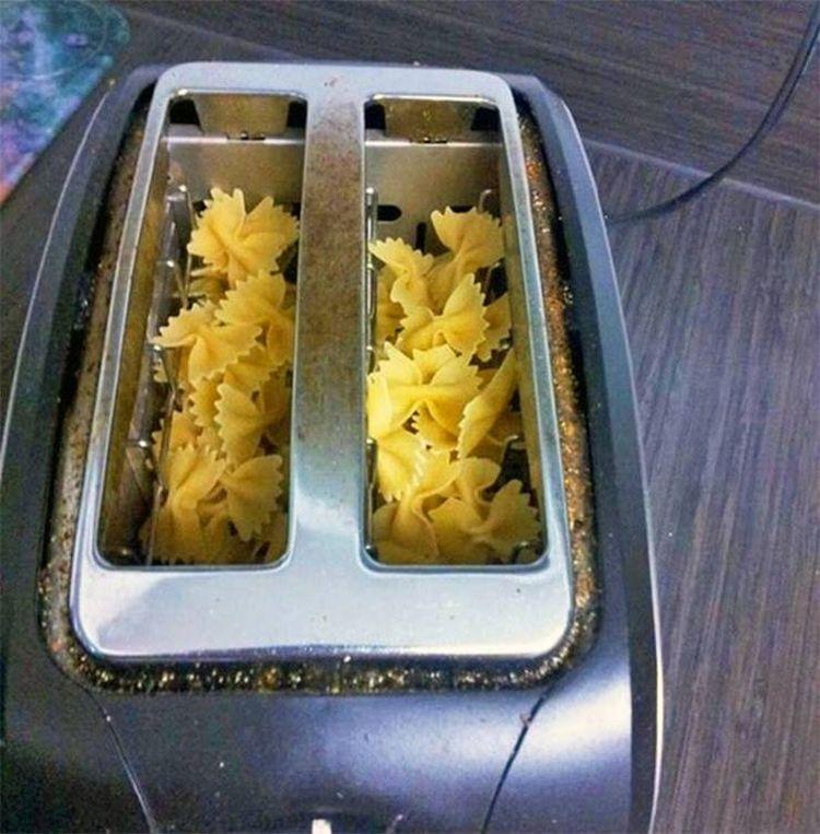 Макаронные изделия можно приготовить в тостере