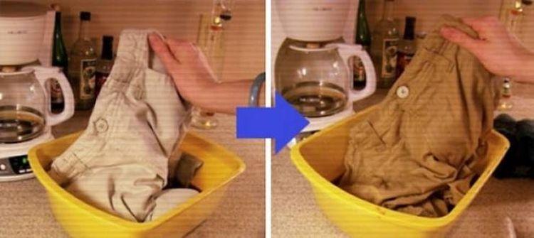 Кофейное пятно не беда, постирай брюки в кофе целиком