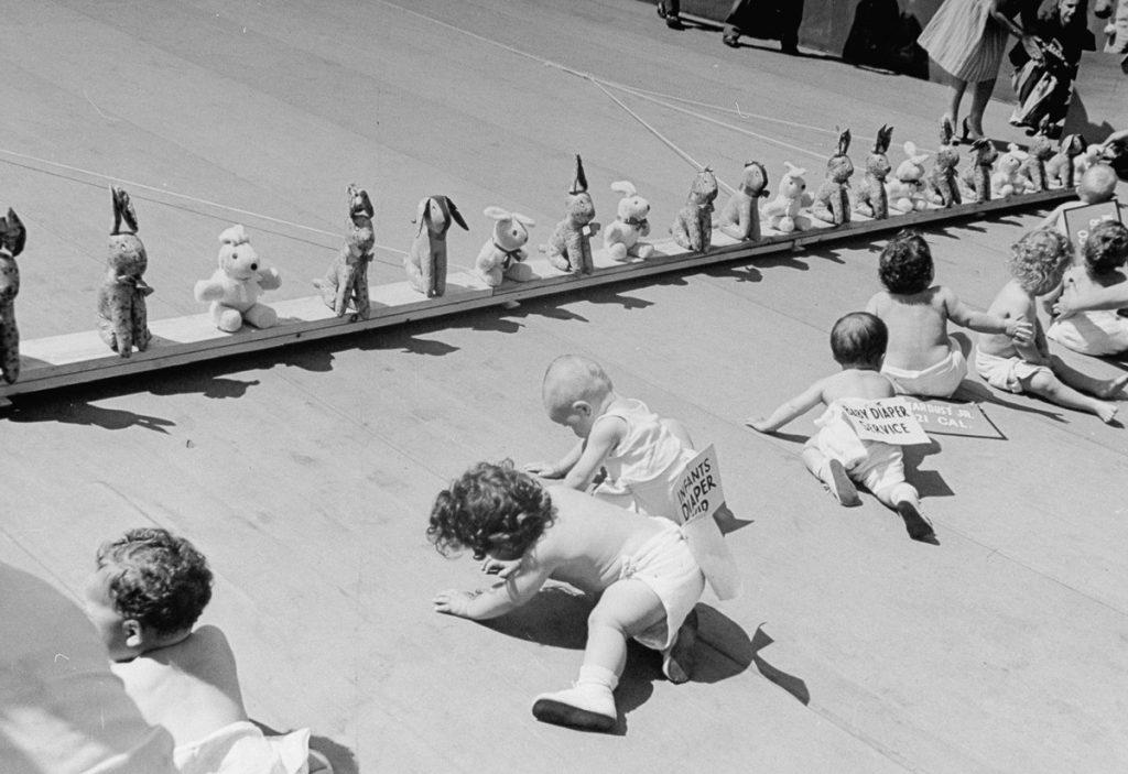 Детские гонки, 1946.