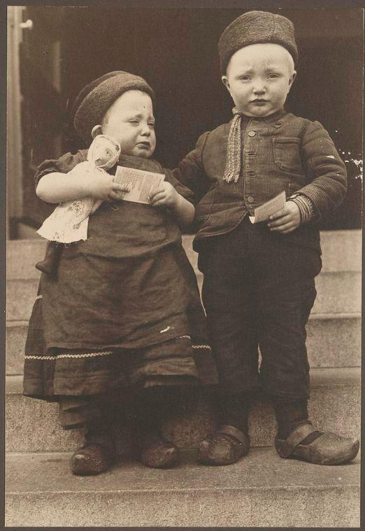 Фотография голландских детей, 1910.
