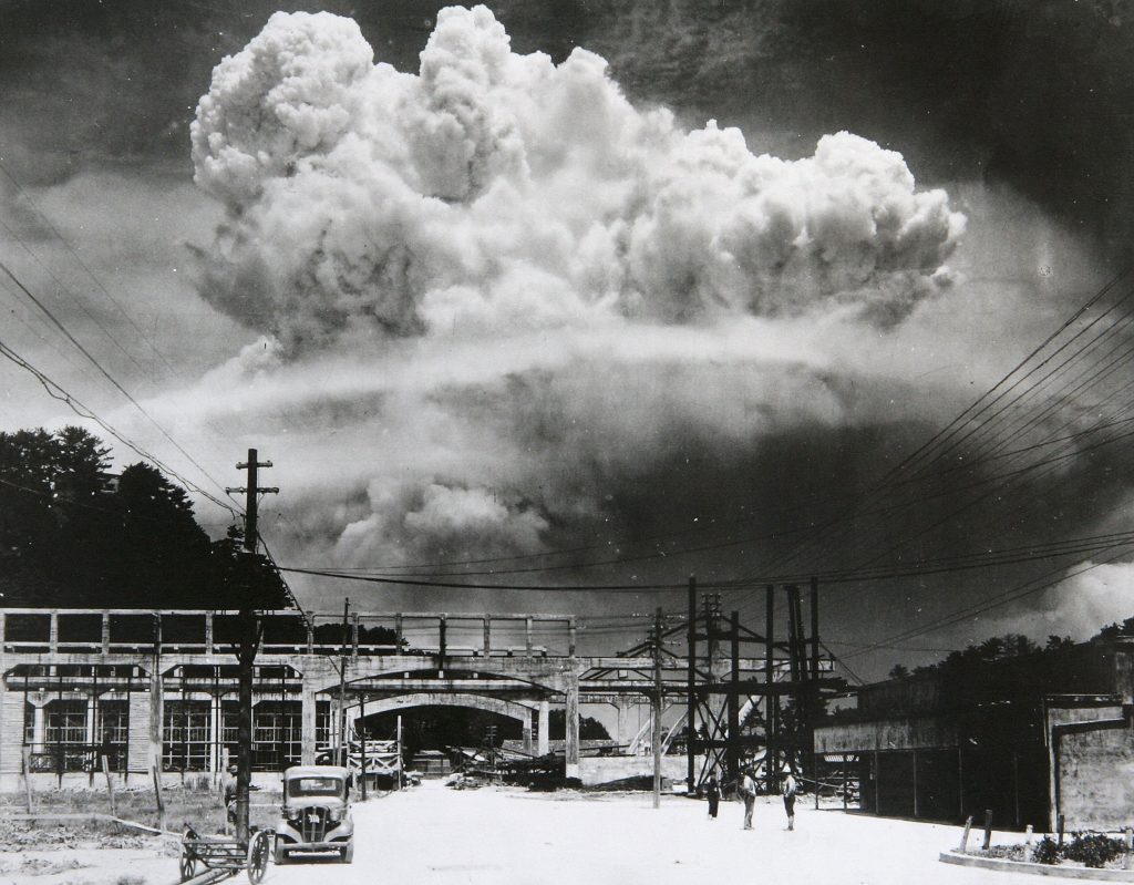 Атомная бомба в Нагасаки, 1945.