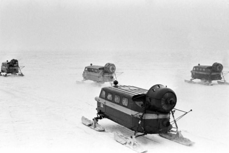 Снегоход советской эпохи, 1983.