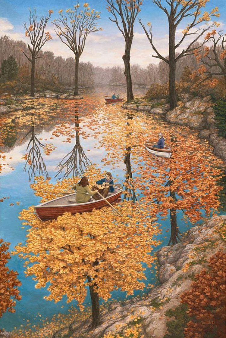 Осеннее плавание.