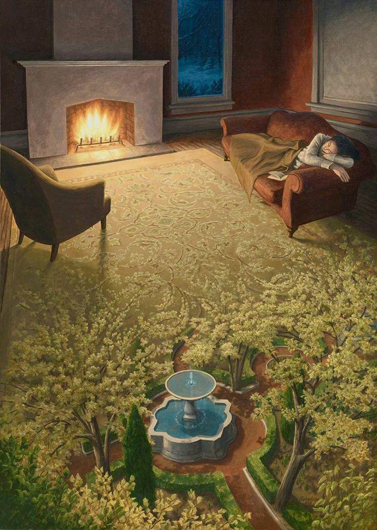 Сплетение весеннего сна.
