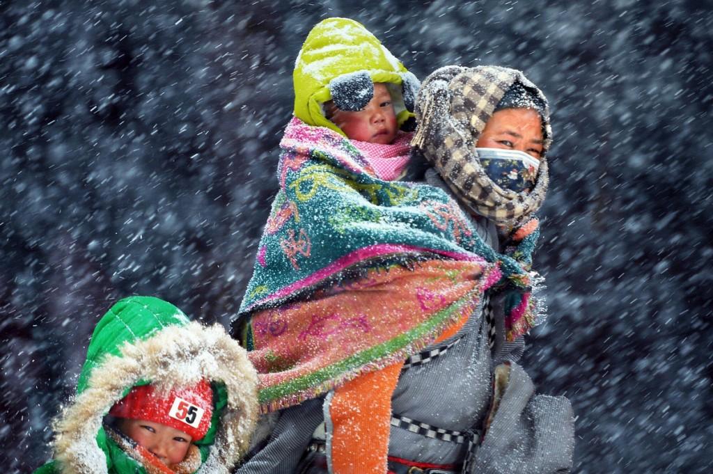 «Снег и ветер над плато». Автор фото: Лин Цзэн.