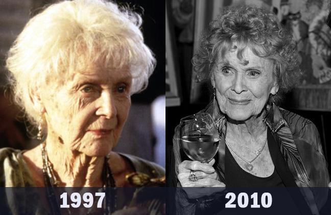 Роза в старости — Глория Стюарт (умерла в 2010 году)