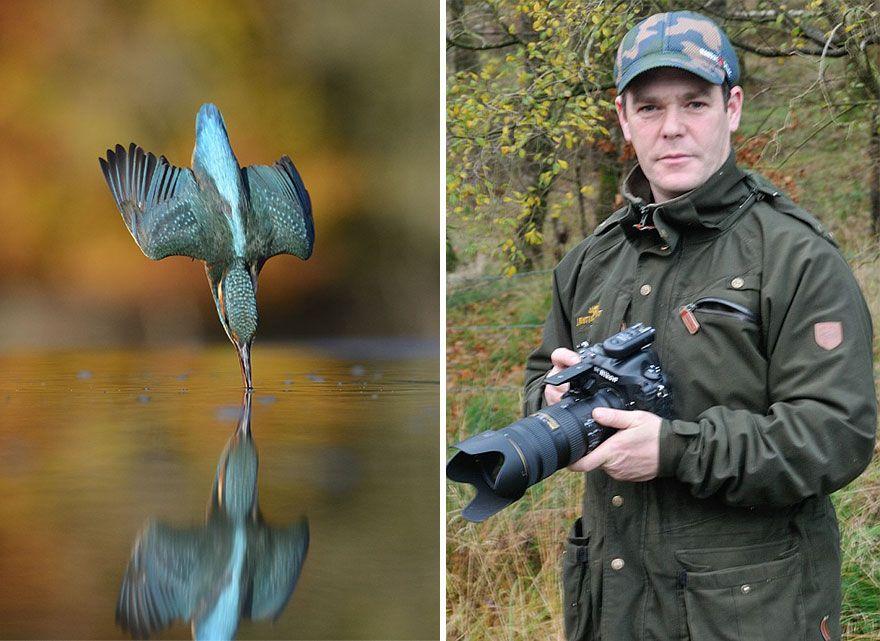 3. «Я помню, как мой дед взял меня посмотреть на гнездо зимородков, и помню, как был потрясен тем, насколько великолепны были птицы. Поэтому, когда я начал заниматься фотографией, я вернулся в то же место, чтобы снять зимородков», — рассказывает Алан.