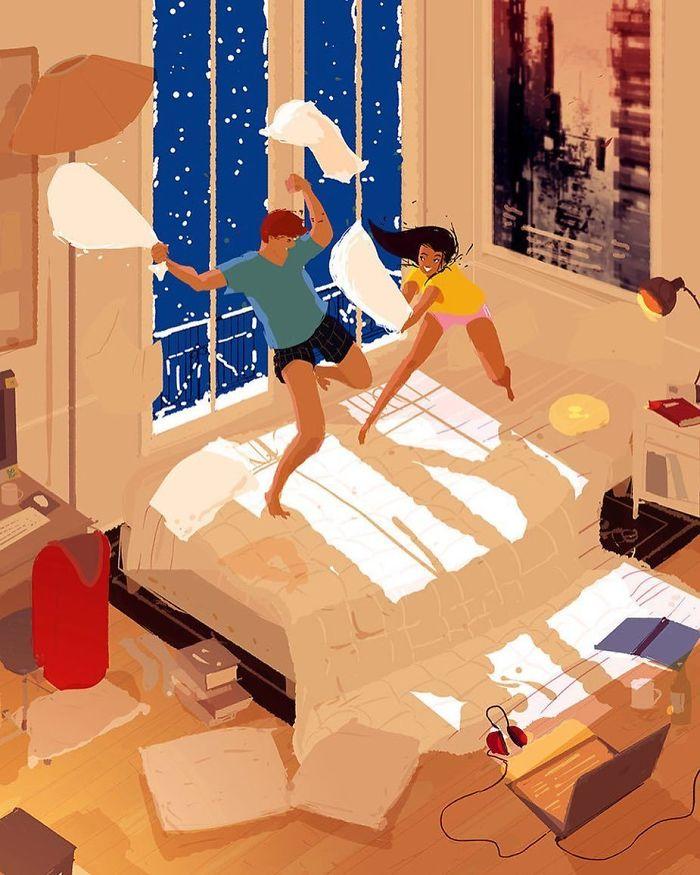 Бой подушками — мы же взрослые!