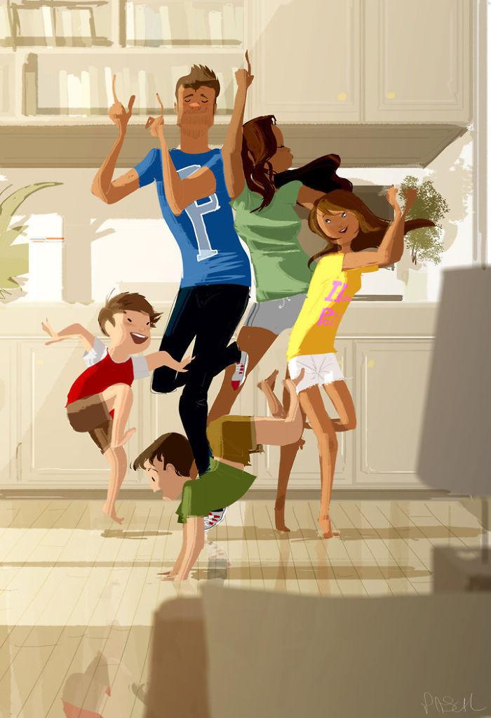 Проводить время с семьей