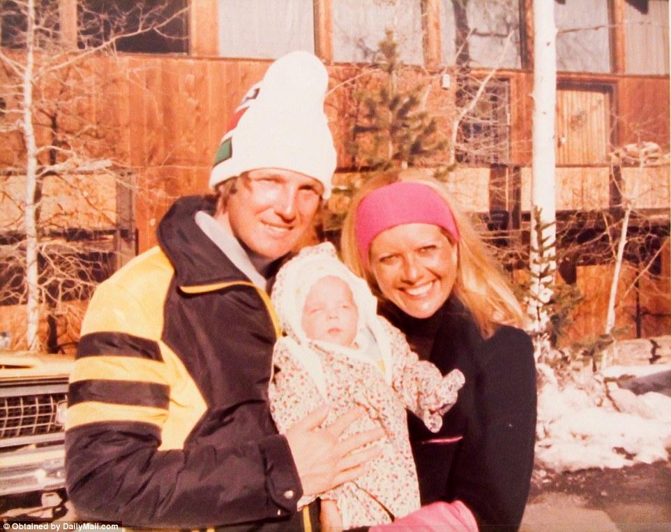 Дональд и Ивана часто катались на лыжах. Здесь они с маленькой Иванкой.