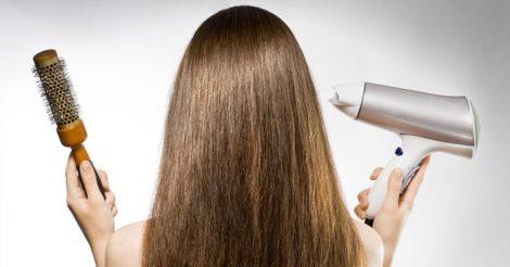 уложить волосы феном