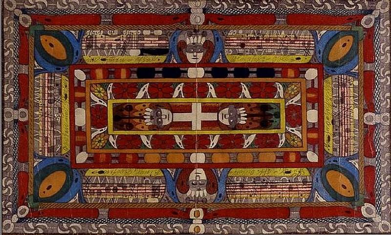 12. Адольф Вёльфли — яркий представитель ар брют (фр. art brut — искусство грубое/необработанное), который творил «благодаря» психической болезни, а его работы носят в высшей степени спонтанный характер.