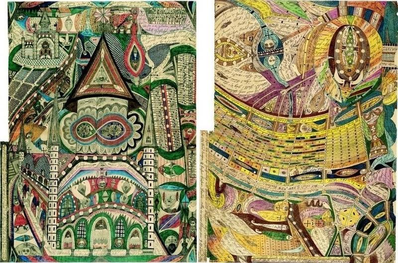 14. Адольф как будто писал альтернативную историю мироздания. Он видел на небе не просто луну, а вписанный в нее круг буддийской мандалы, говорящий о взаимосвязи человека и Космоса.