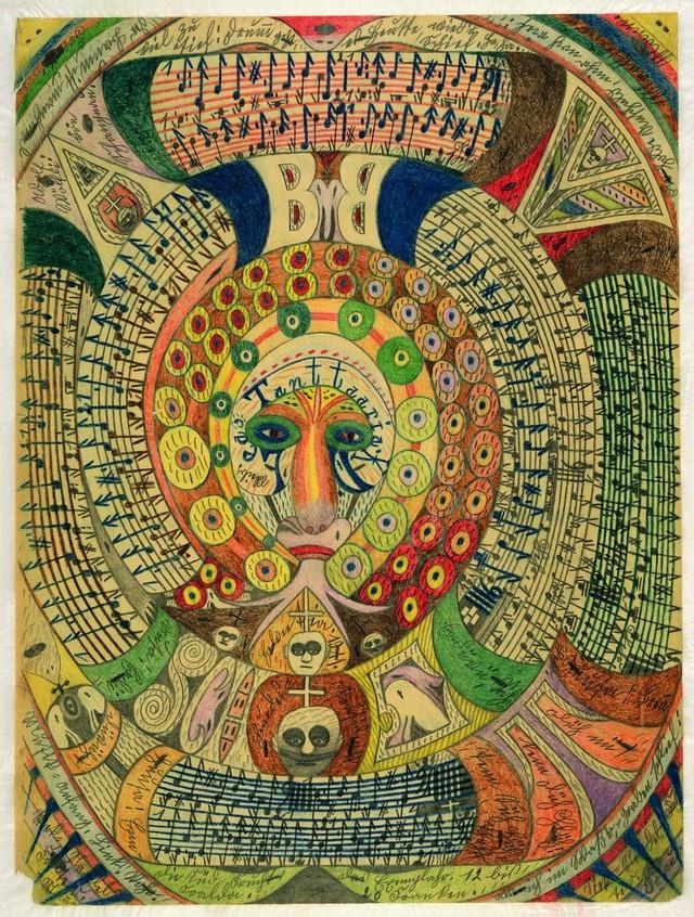 16. Один из основоположников и главный теоретик сюрреализма Андре Бретон коллекционировал работы Адольфа Вёльфли и восхищался тем, что, не будучи знакомым с основными принципами этого направления, Вёльфли воспроизвел в своем творчестве близкую к сюрреалистическому автоматическому письму спонтанность.