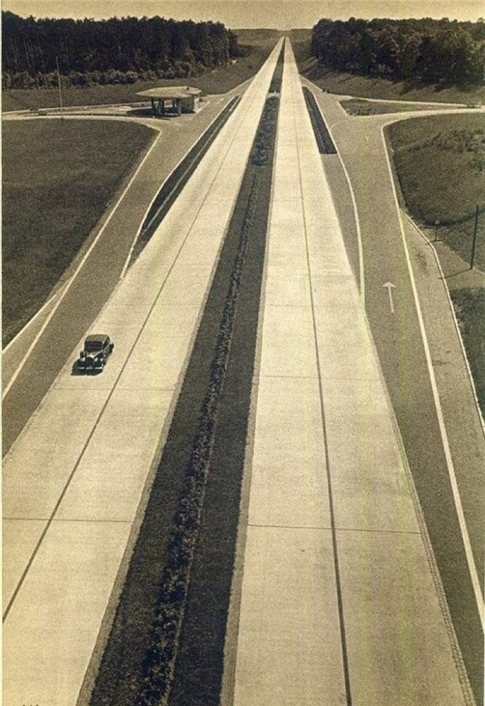 Немецкий автобан в 1930 году