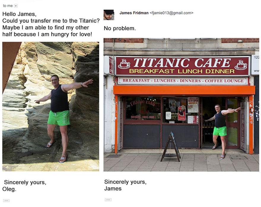 """«Перемести меня на """"Титаник"""", может быть, тогда я найду вторую половинку, ведь я так изголодался по любви-и-и». Переместил голодающего."""