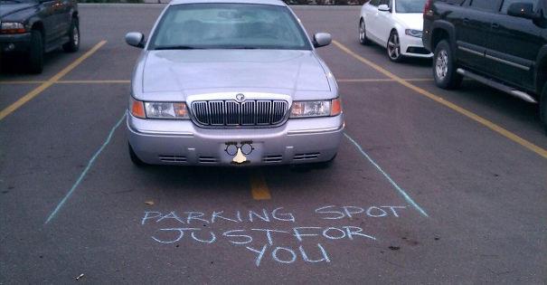 «Парковочное место специально для тебя».