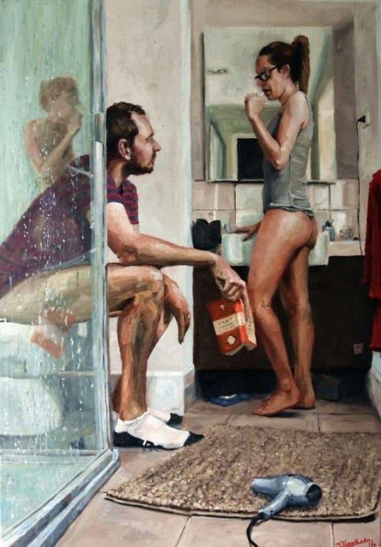 «Муж никогда не рисовал нас вместе, и это его первая работа, где мы изображены вдвоём»