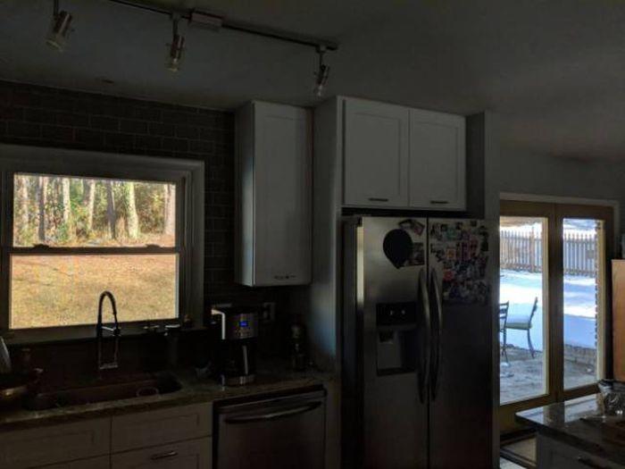 Слева лето, справа зима, а посередине — холодильник!