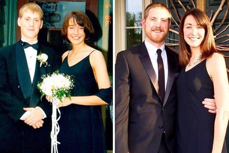 «Моя жена вампир. Она вообще не стареет. Слева — молодожёны, справа — 20 лет спустя»