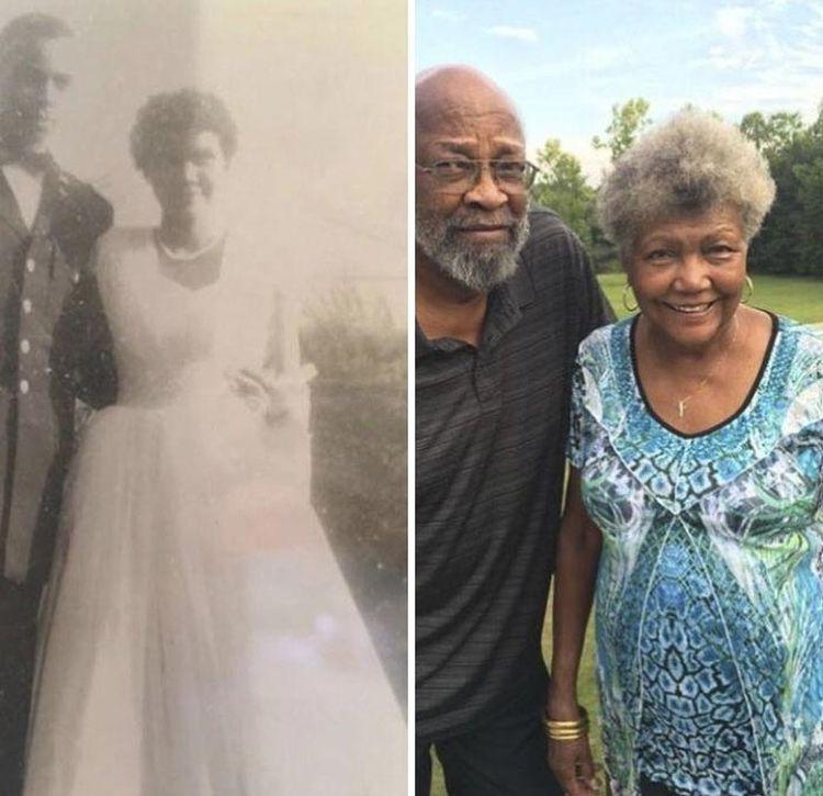 «Мои бабушка и дедушка 58 лет назад и сегодня»