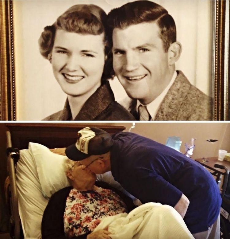 «Мои мама и папа в 1951 году и сегодня, 62 года спустя. Они всё ещё любят друг друга»
