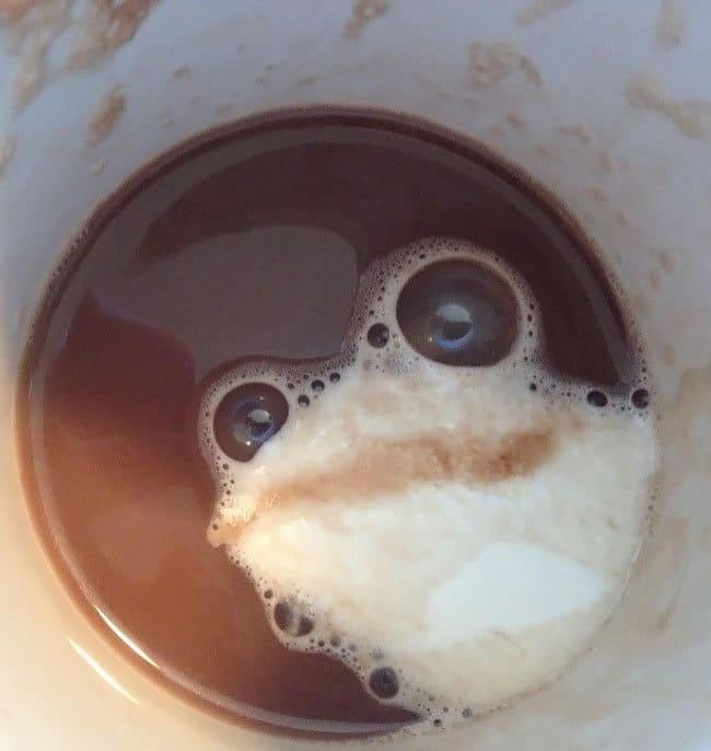 4. «Откуда в моём кофе эта лягушка?»