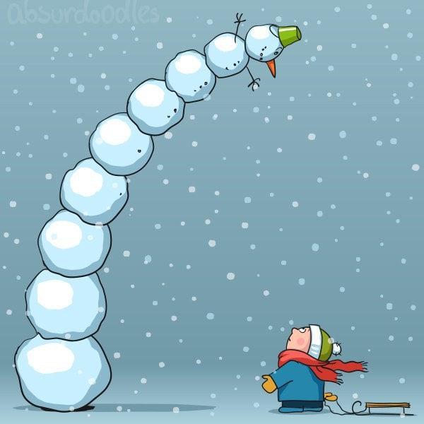 12. Пизанский снеговик