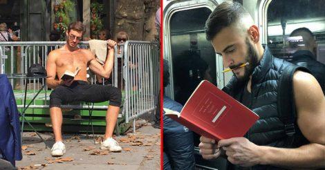 Читающие красавчики