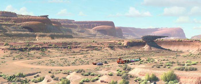 16. В мультфильме «Тачки» каньоны тоже немного машины
