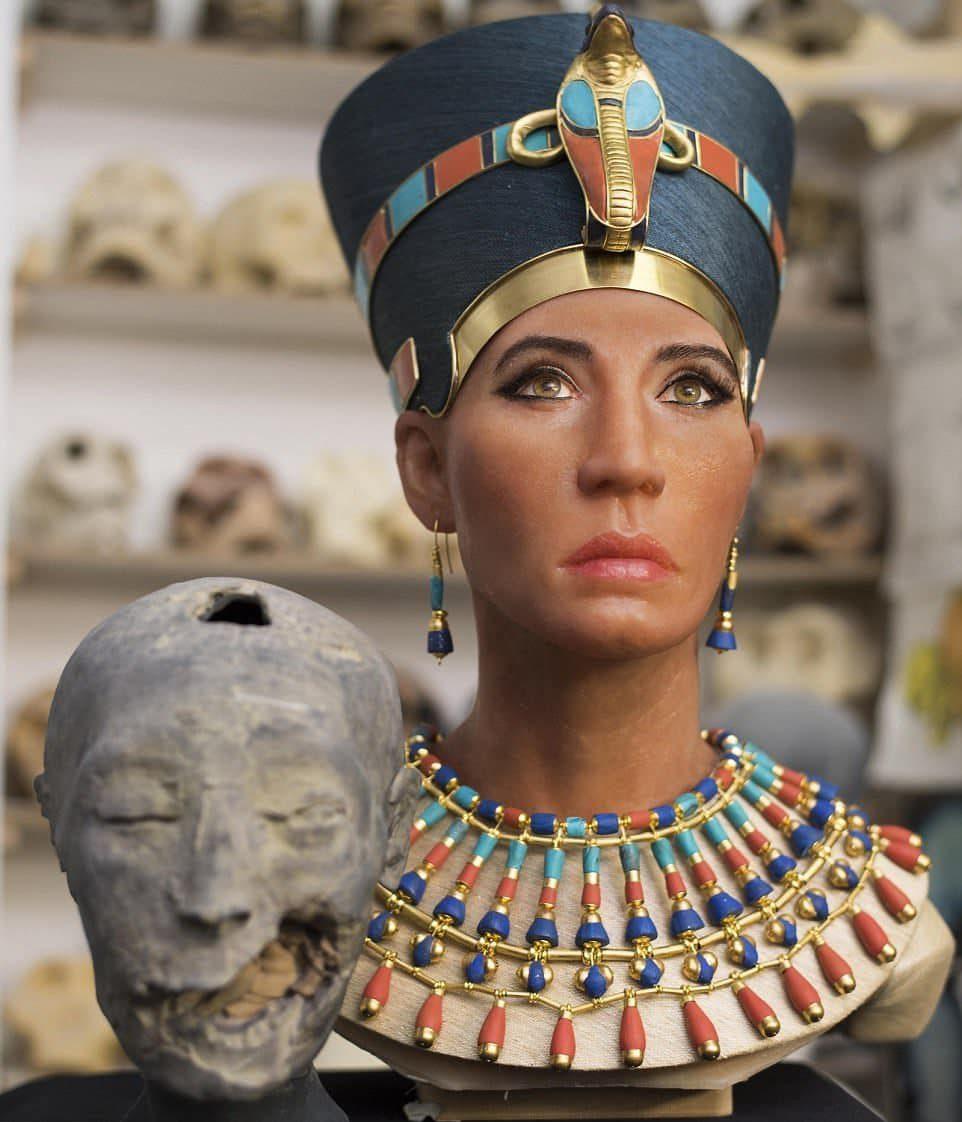 Идея воссоздать лицо Нефертити была воплощена в жизнь