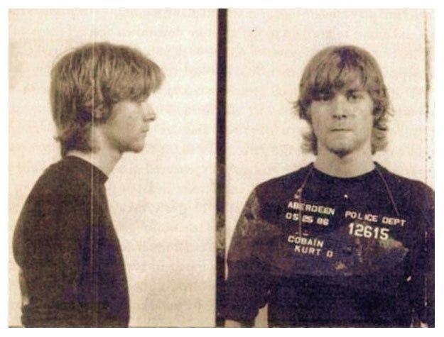 Курт Кобейн (Kurt Cobain) – 1986 (незаконное проникновение в состоянии алкогольного опьянения, вандализм)