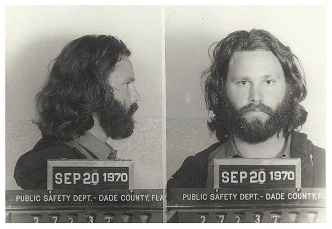Джим Моррисон (Jim Morrison) - 1970 (непристойное поведение и использование ненормативной лексики в общественном месте)