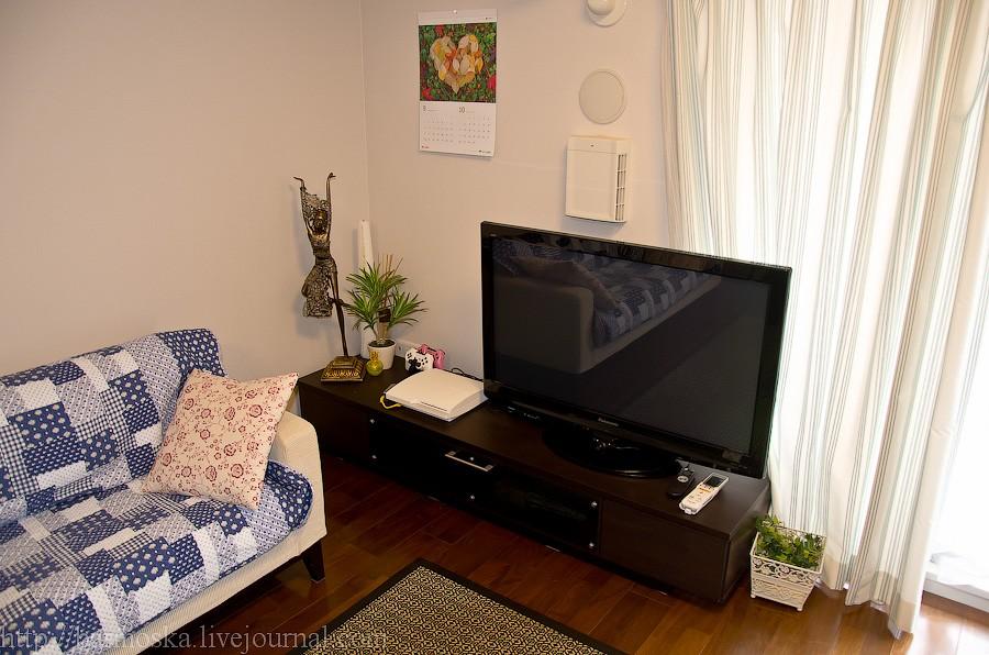 33. Справа от дивана телевизор и PlayStation 3.