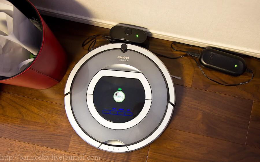 39. Ну как же японский дом и без прибамбасов? Например, вот этот беспроводной робот-пылесос. В России, кстати, вовсю продается.
