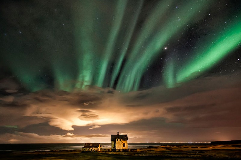 Северное сияние. Исландия.