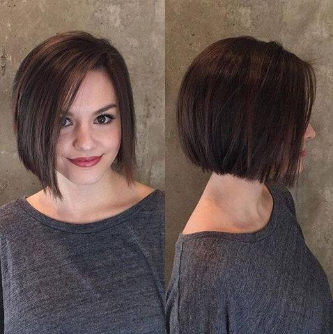 18. Данная стрижка создаст видимость густых волос, благодаря правильно постриженным кончикам.