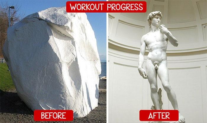 2. До и после занятий в тренажёрном зале