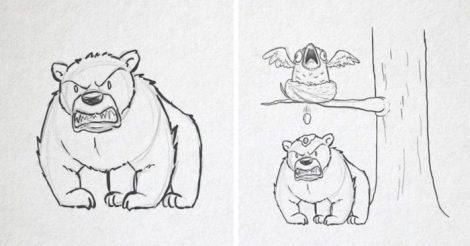 нарисовал медведя